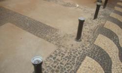 Vandalismo no Calçadão de Araras
