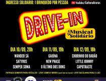 Drive-In Musical Solidário começa sexta-feira no Ginásio de Esportes
