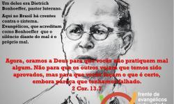 FRENTE DE EVANGÉLICOS PELO ESTADO DE DIREITO REPUDIA IDEIAS NAZISTAS DO GOVERNO BOLSONARO E FAZ UM ALERTA A PASTORES