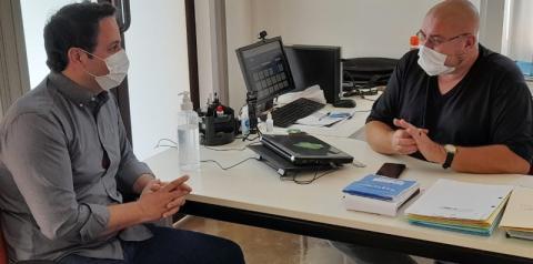 Vereador e pré-candidato a deputado Wesley Casa Forte visita secretaria de Cultura e Araras