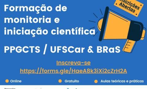 UFSCar oferece curso gratuito de monitoria e iniciação científica para estudantes