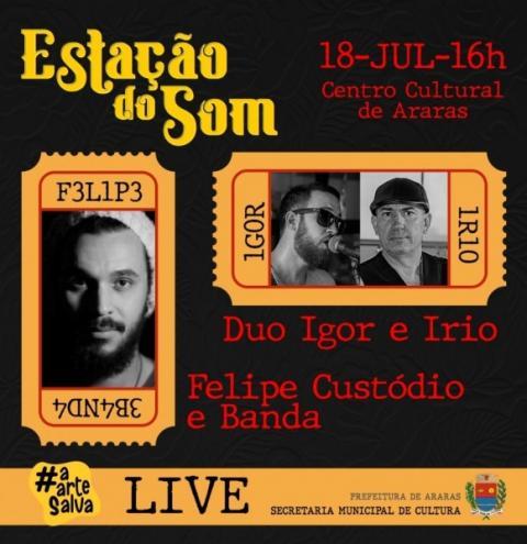 Com apresentações online de artistas locais, Cultura promove Estação do Som